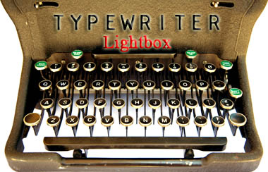 lightbox-typewriter